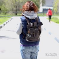 Кожаный рюкзак RS 01