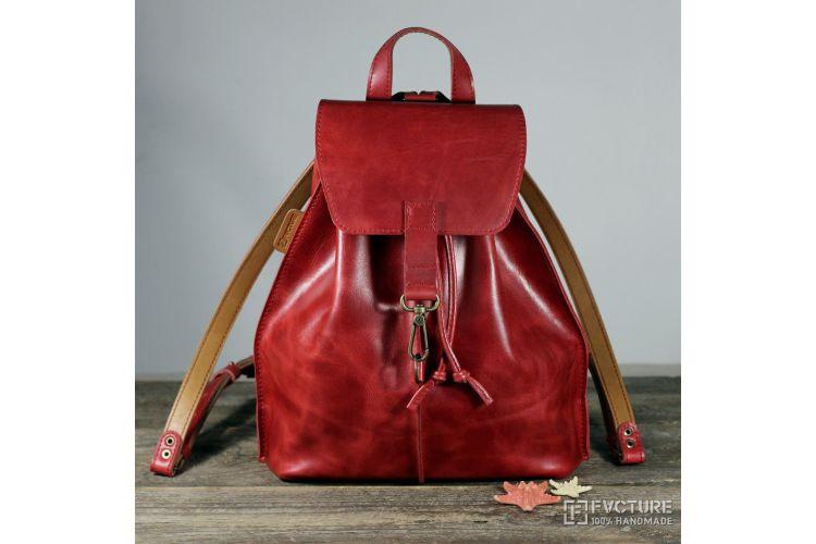 Кожаный женский рюкзак RS 02