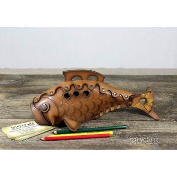 Рыбка из натуральной кожи